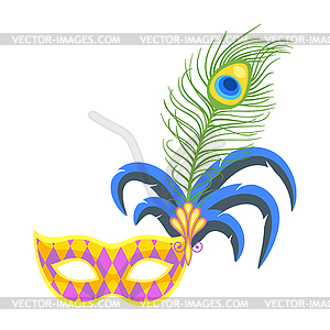 Mardi Gras colorful holiday mask.
