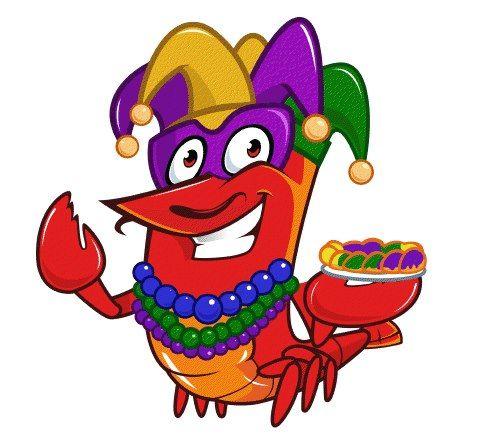 mardi gras crawfish.