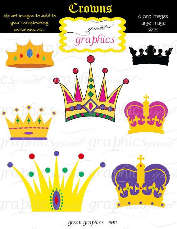 Crown Clipart, Digital Crown, Clip Art Crown, Crown Clip Art.