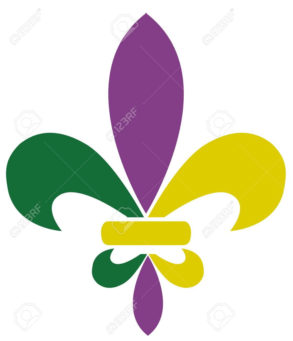 Vector illustration of mardi gras fleur de lis.