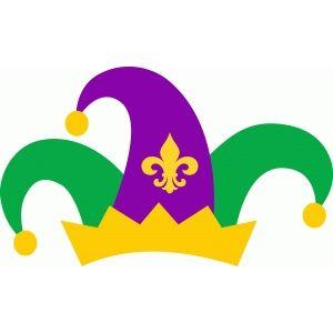 Silhouette Design Store: mardi gras jester hat.