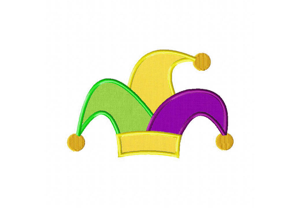 preview clipart. sequin jester hat for mardi gras. pet with.