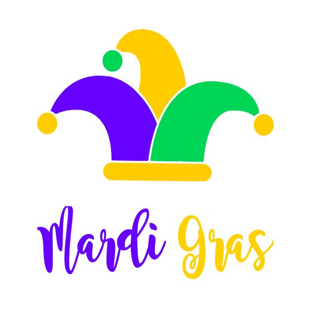 Fun Mardi Gras and Jester\'s Hat Design.