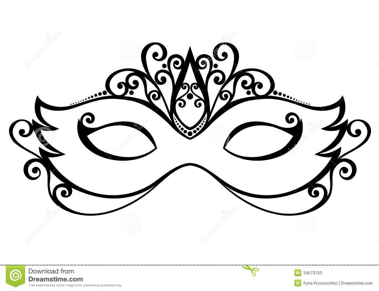 Use the form below to delete this Masquerade Mask Clip Art.