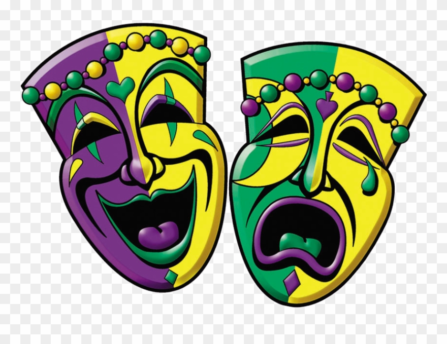 Mardi Gras Comedy And Tragedy.