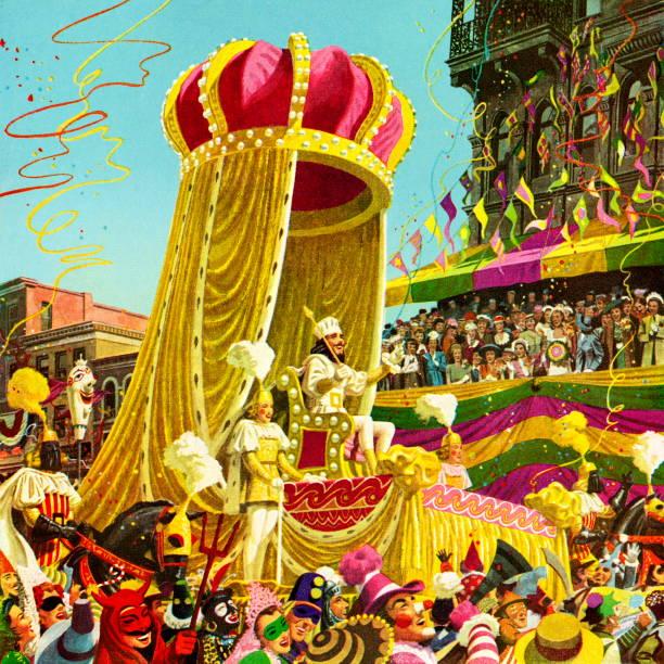 Best Mardi Gras Parade Illustrations, Royalty.