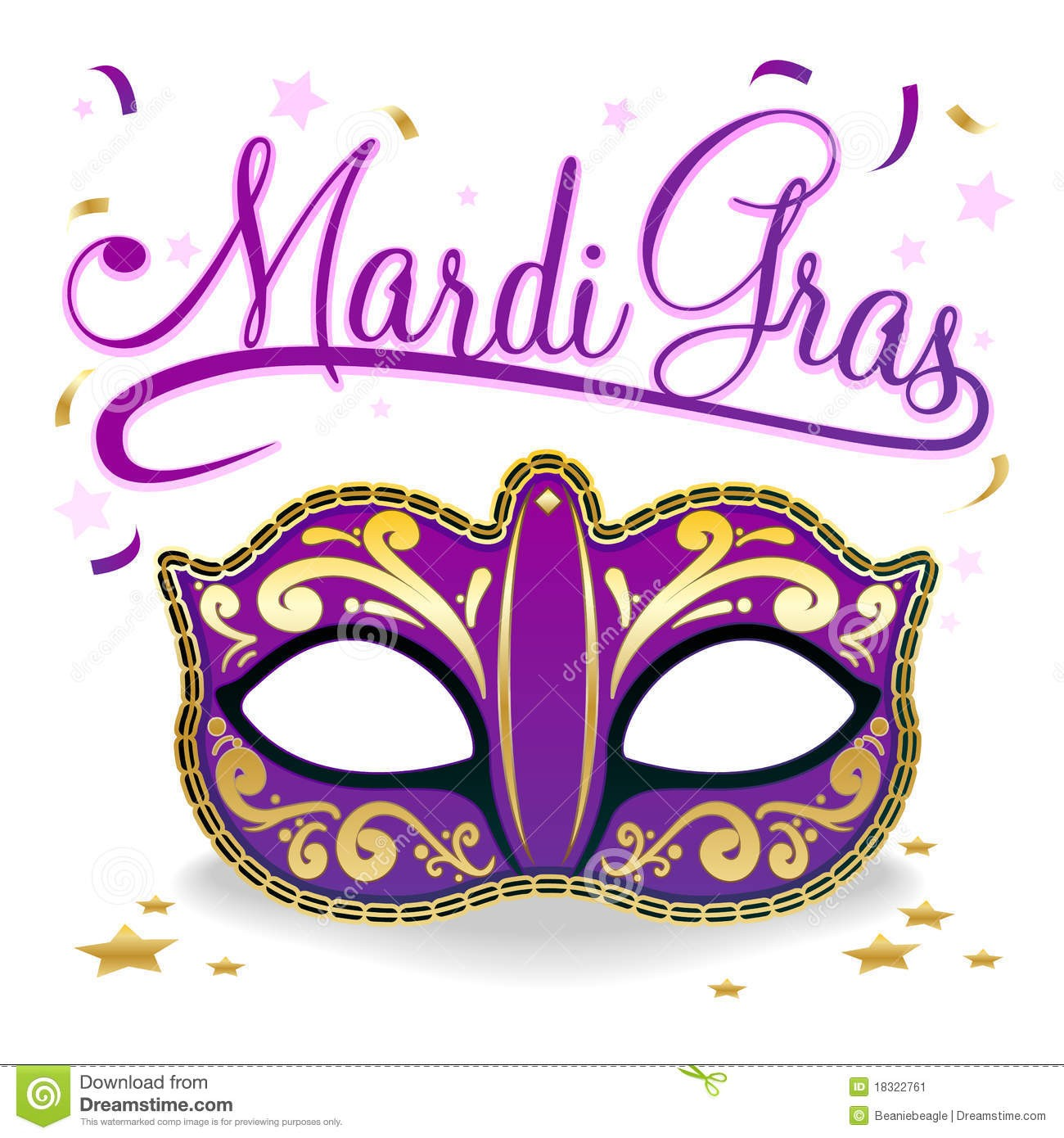 Mardi Gras Clip Art.