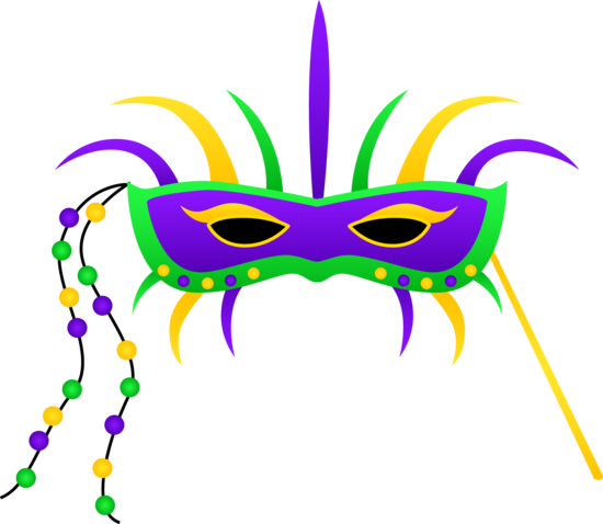 Mardi Gras Festival Mask Clipart.