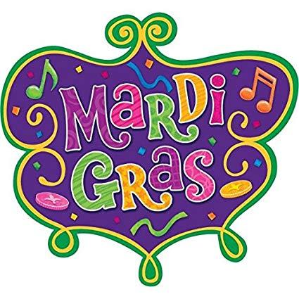 Mardi Gras Party Cutouts Decoration, Cardstock, 8\