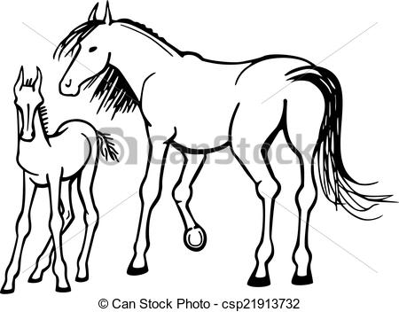 Vectors of Mare and Foal.