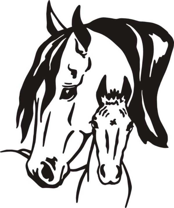 Mare And Foal Clip Art Free.