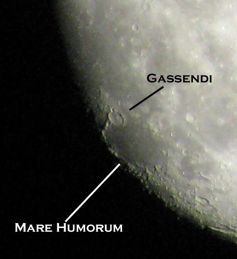 The Flat Tire: Mare Humorum and Gassendi.
