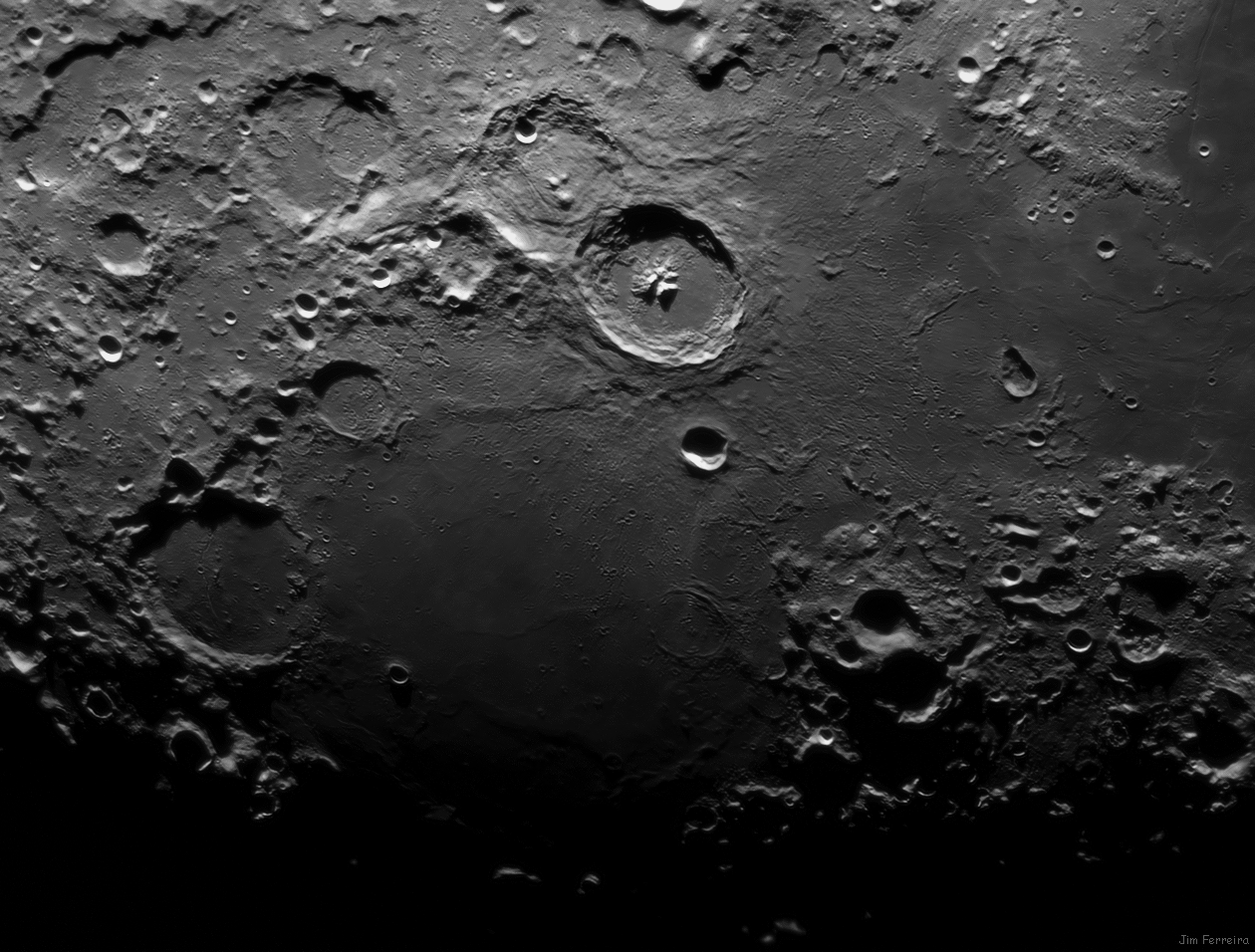 Mare Nectaris / Mare Tranquility, 19 day old moon.