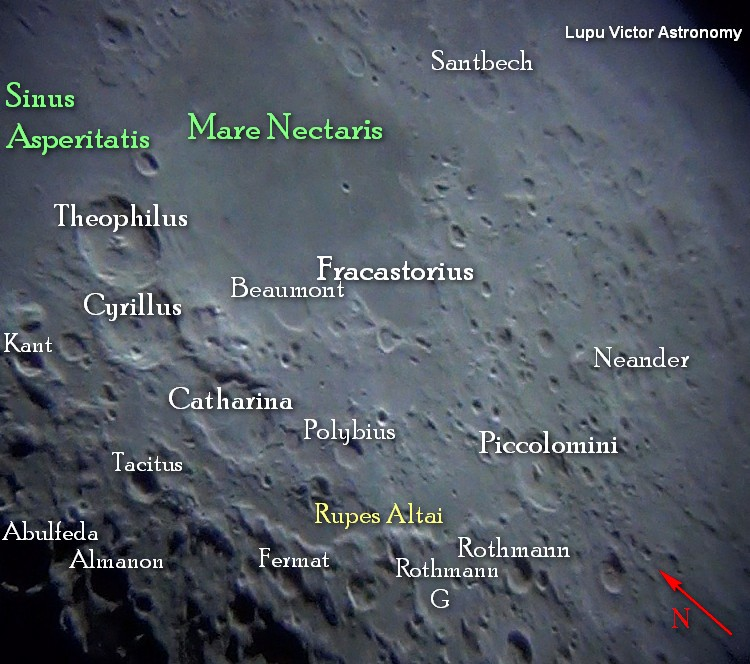 LUPU VICTOR ASTRONOMY: Photos by telescope Craters around Nectaris.