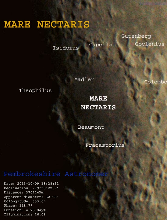 Pembrokeshire Astronomer: Mare Nectaris in a cloudy Sky..
