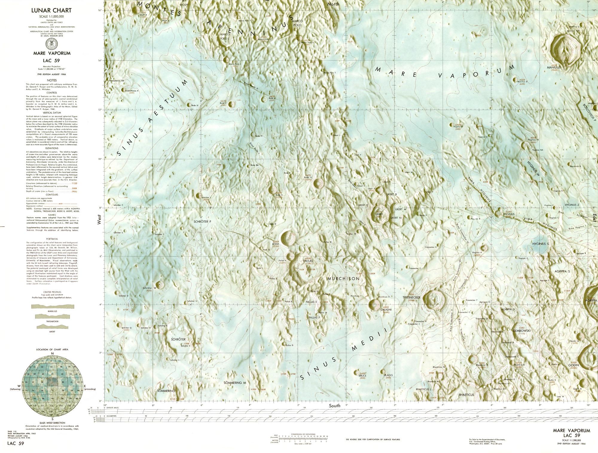 Lunar Chart (LAC) Series.