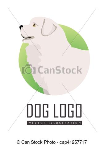 Vector Clip Art of Dog Logo Vector of Maremma Sheepdog Breed Dog.