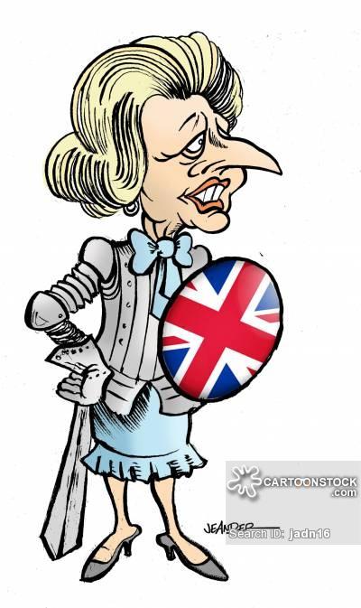 Margaret Thatcher Cartoons and Comics.