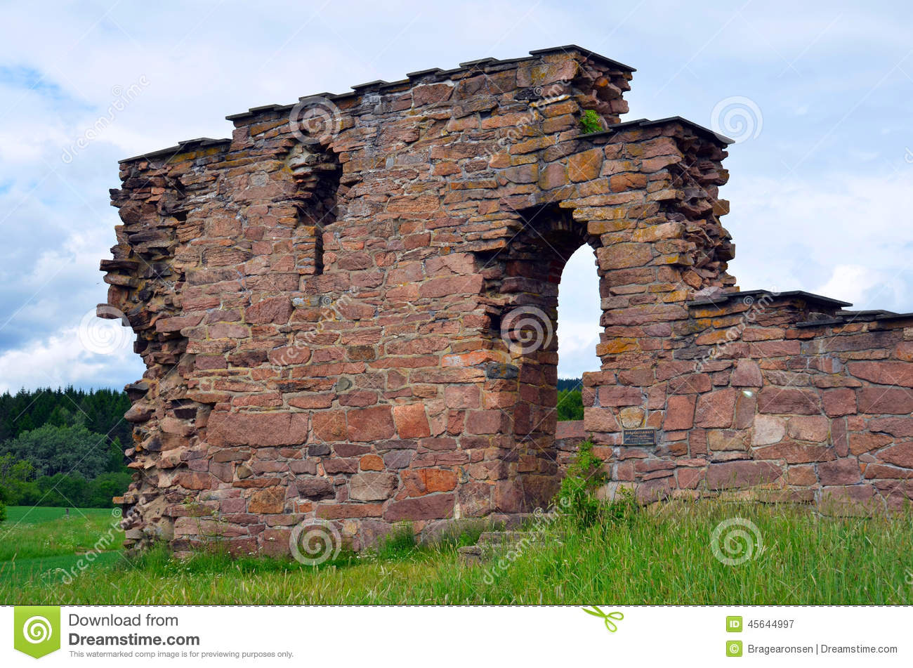St. Margaret's Church Ruins In Oslo, Norway Stock Photo.