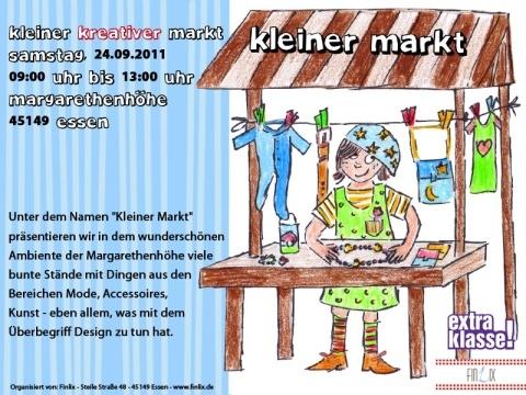 Auf der Margarethenhöhe: Kleiner Kreativer Markt am 24.09.2011.