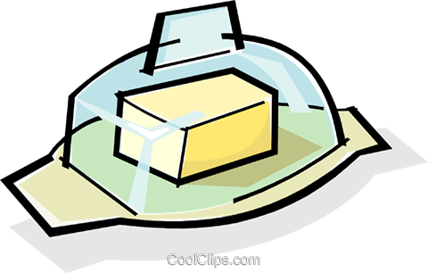 butter/margarine container Royalty Free Vector Clip Art.