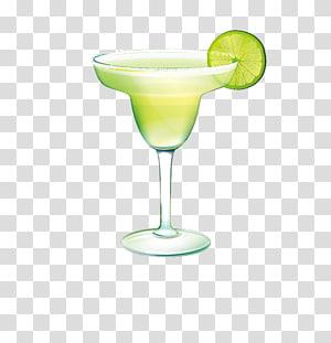 Margarita glass filled with line, Margarita Cocktail Martini.