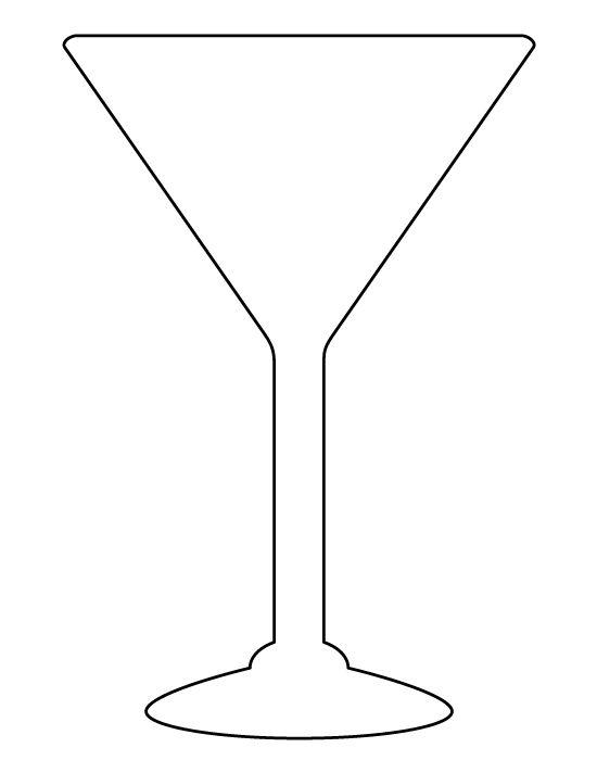 Download martini glass template clipart Martini Cocktail.