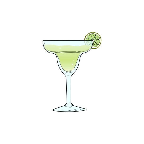 Best Margarita Glass Illustrations, Royalty.
