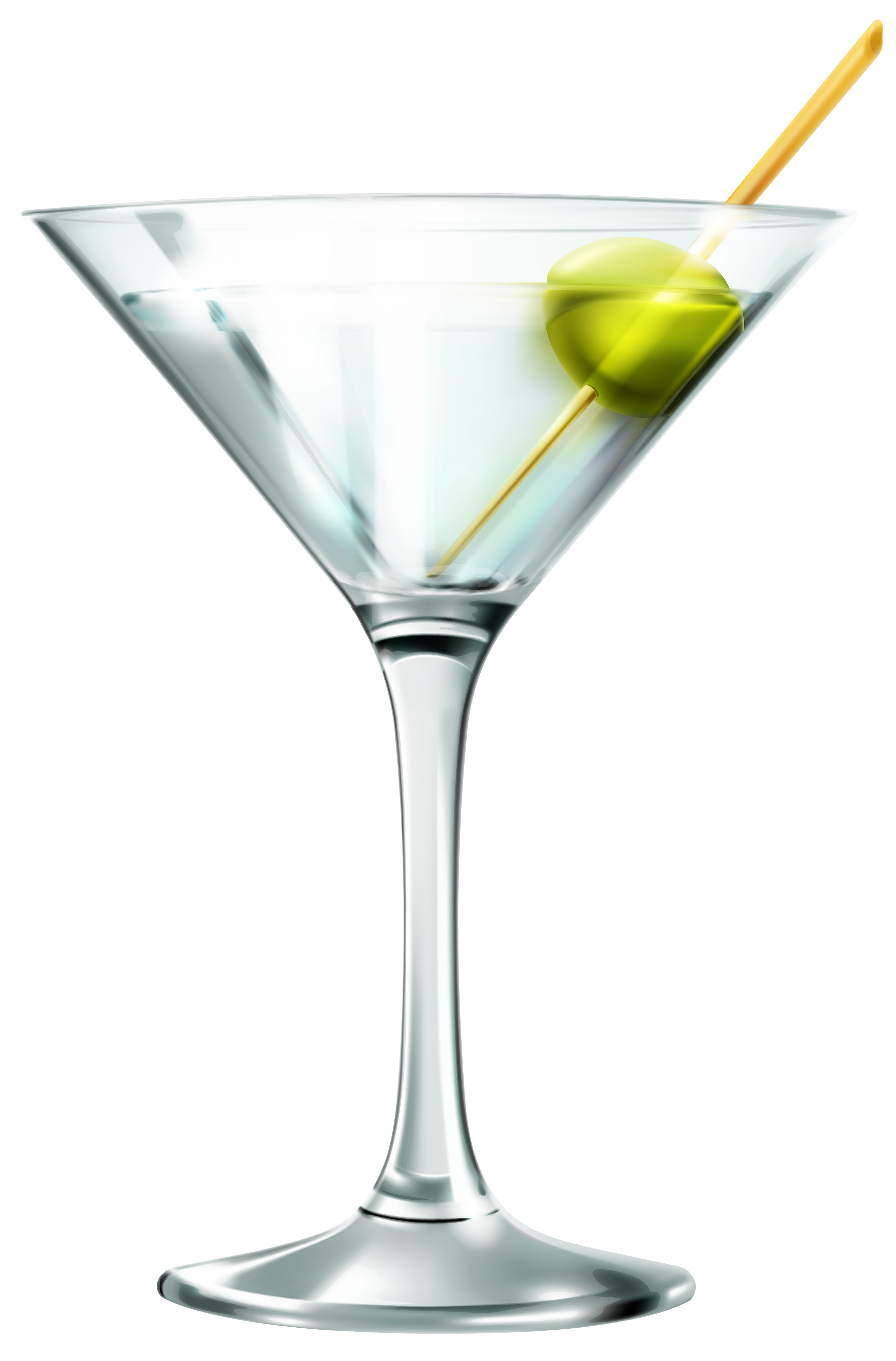 Transparent Martini Glass PNG Clipart.