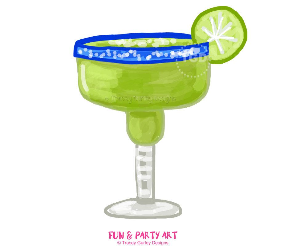 Margarita clipart margarita glass invitation art watercolor.