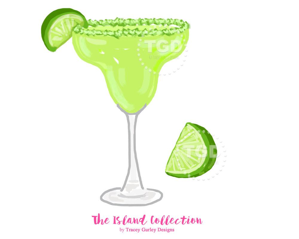 Margarita cocktail clipart.