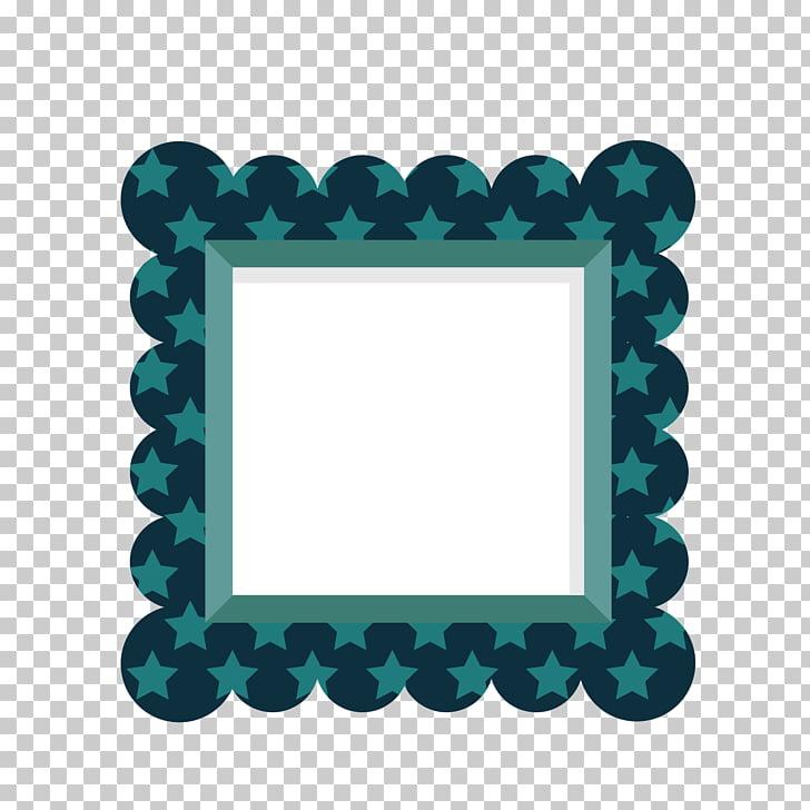 Euclidean Márgenes Color Blue Square, Blue Print Star Square.