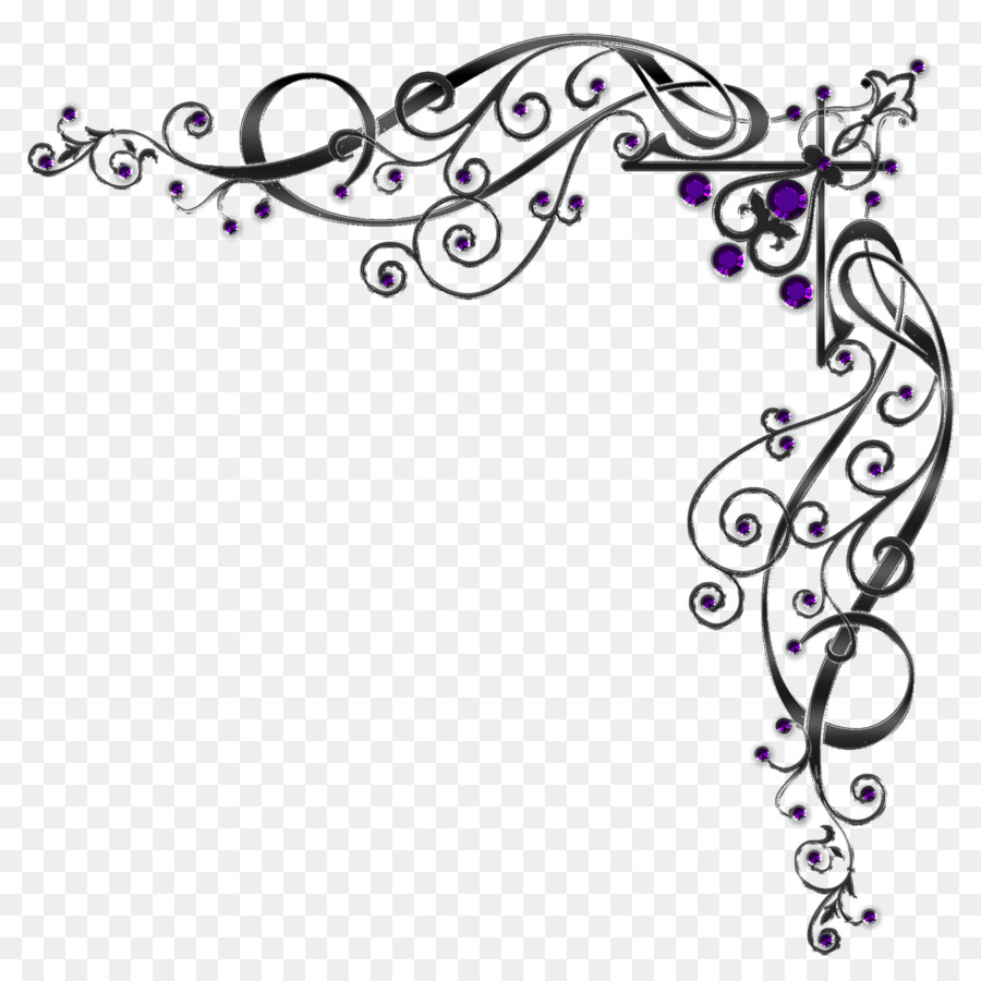 Download Free png Paper Meander Wedding Margin fuchsia frame.