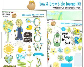 Save 50%! 24 Printable Coloring Bible Journaling Margin Strips.
