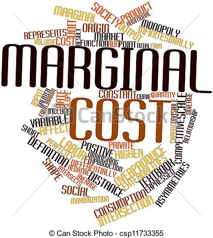 Stock Illustrations of Marginal cost.