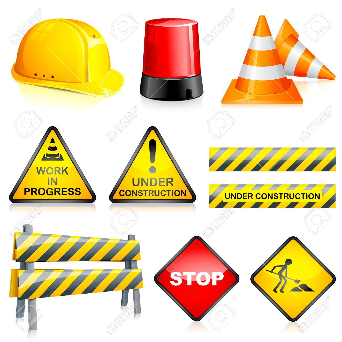 Under Construction Lamp Stock Photos & Pictures. Royalty Free.