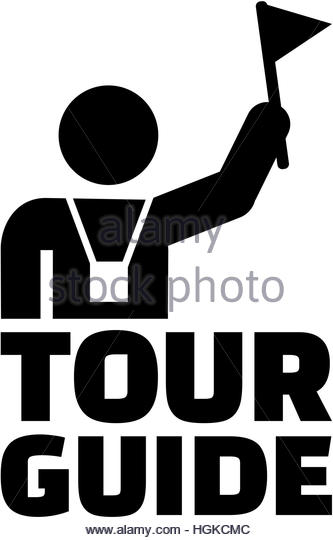 Tourist Guide Black and White Stock Photos & Images.