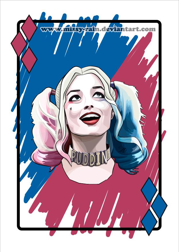 Harley Quinn / Margot Robbie (Vector portrait) by Missy.