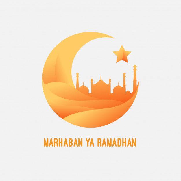 Marhaban ya ramadhan Vector.