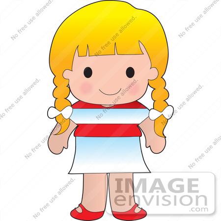 Clip Art Graphic of a Blond Haired Poppy Character Of Austria.