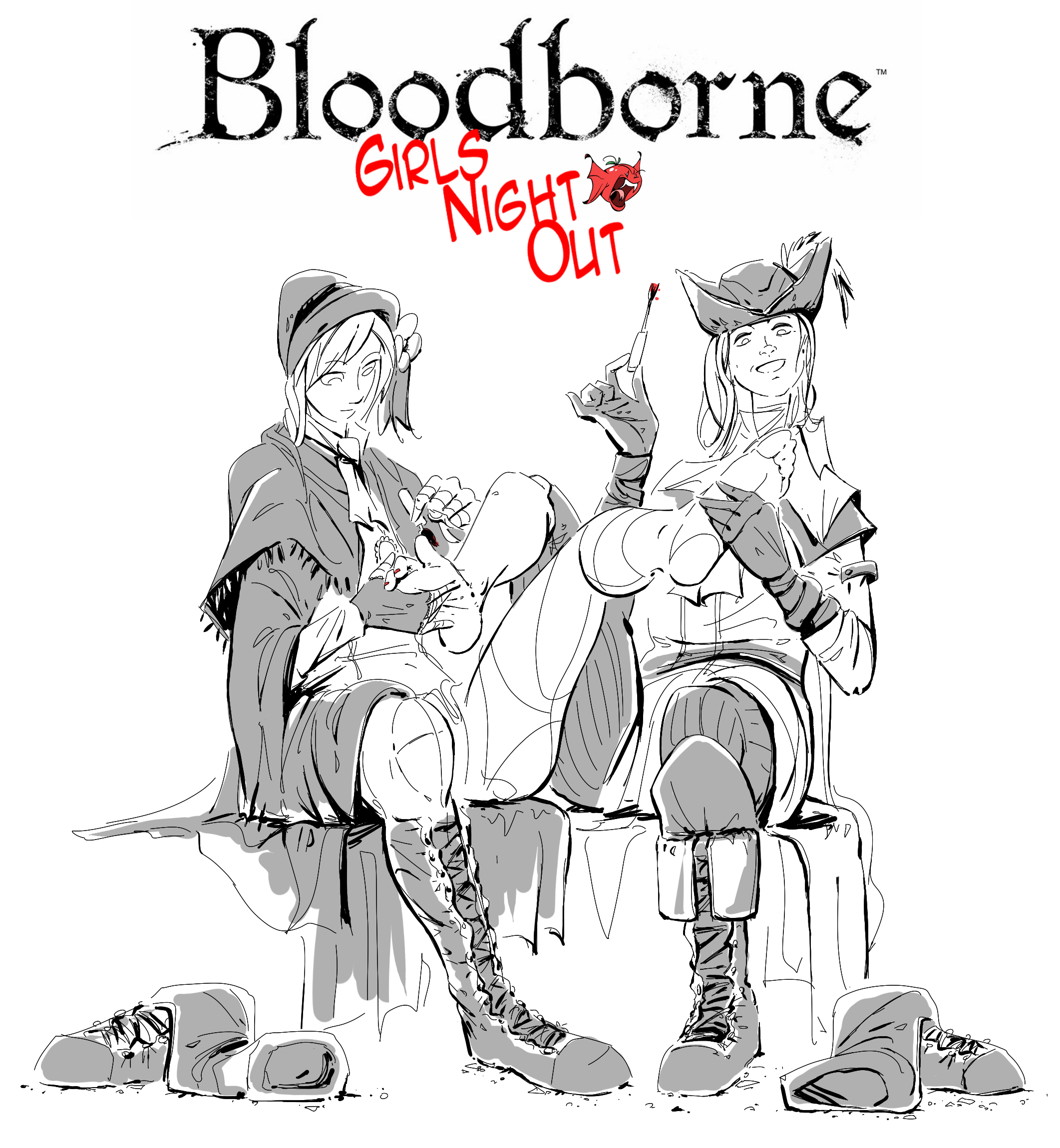 The Doll and Maria's Girls Night Out : bloodborne.