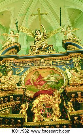Stock Photo of Austria, Salzburg, Maria Plain church baroque altar.
