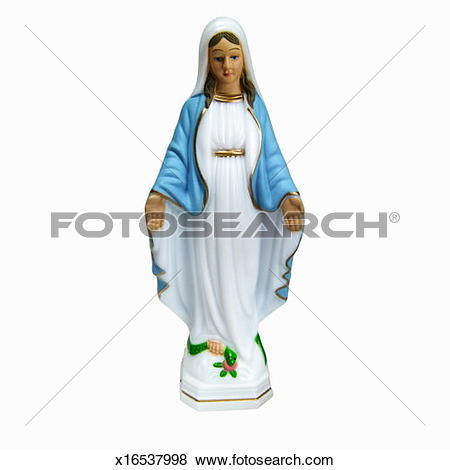 Pictures of Close up of the virgin Mary statue x16537998.