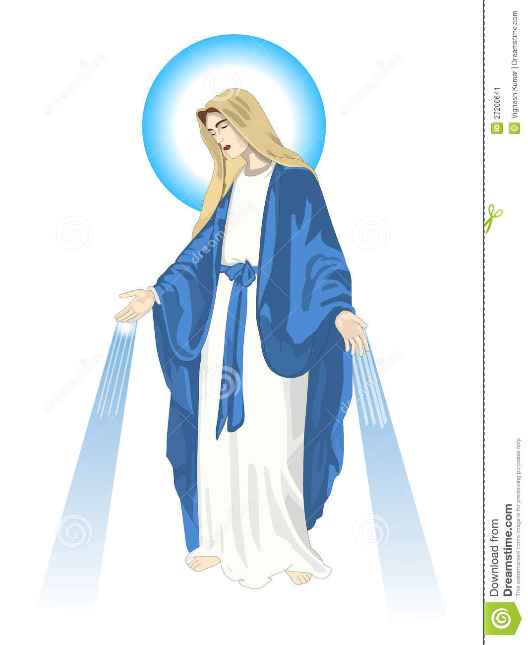 Mother Mary Stock Image.