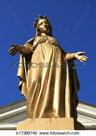 Stock Image of Virgin Mary statue k17389745.