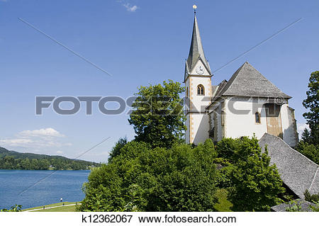 Picture of Maria Worth monastery in Austria k12362067.