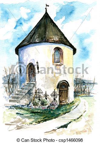 Stock Illustration of Chapel..