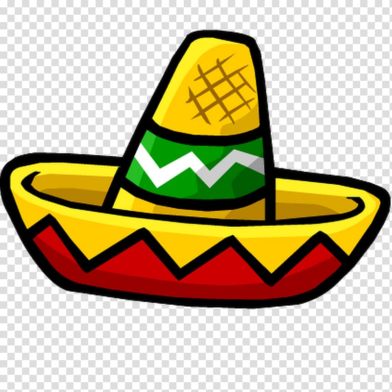 Yellow and orange mariachi hat graphic sticker, Mexican Hat.