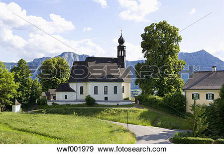 Stock Photograph of Austria, View of pilgrimage church Maria Hilf.