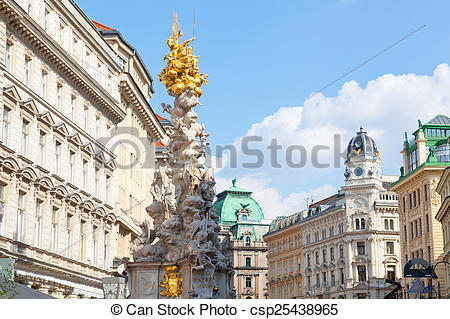 Stock Image of Marian columns known as plague columns constructed.